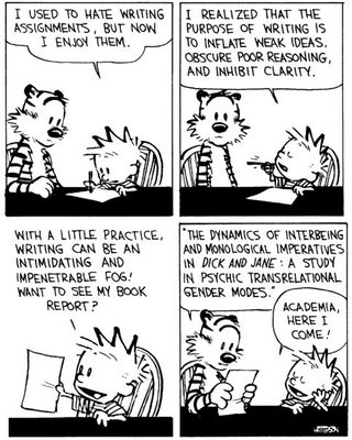 academic writing Calvin and Hobbes