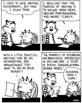 academic writing Calvin and Hobbes